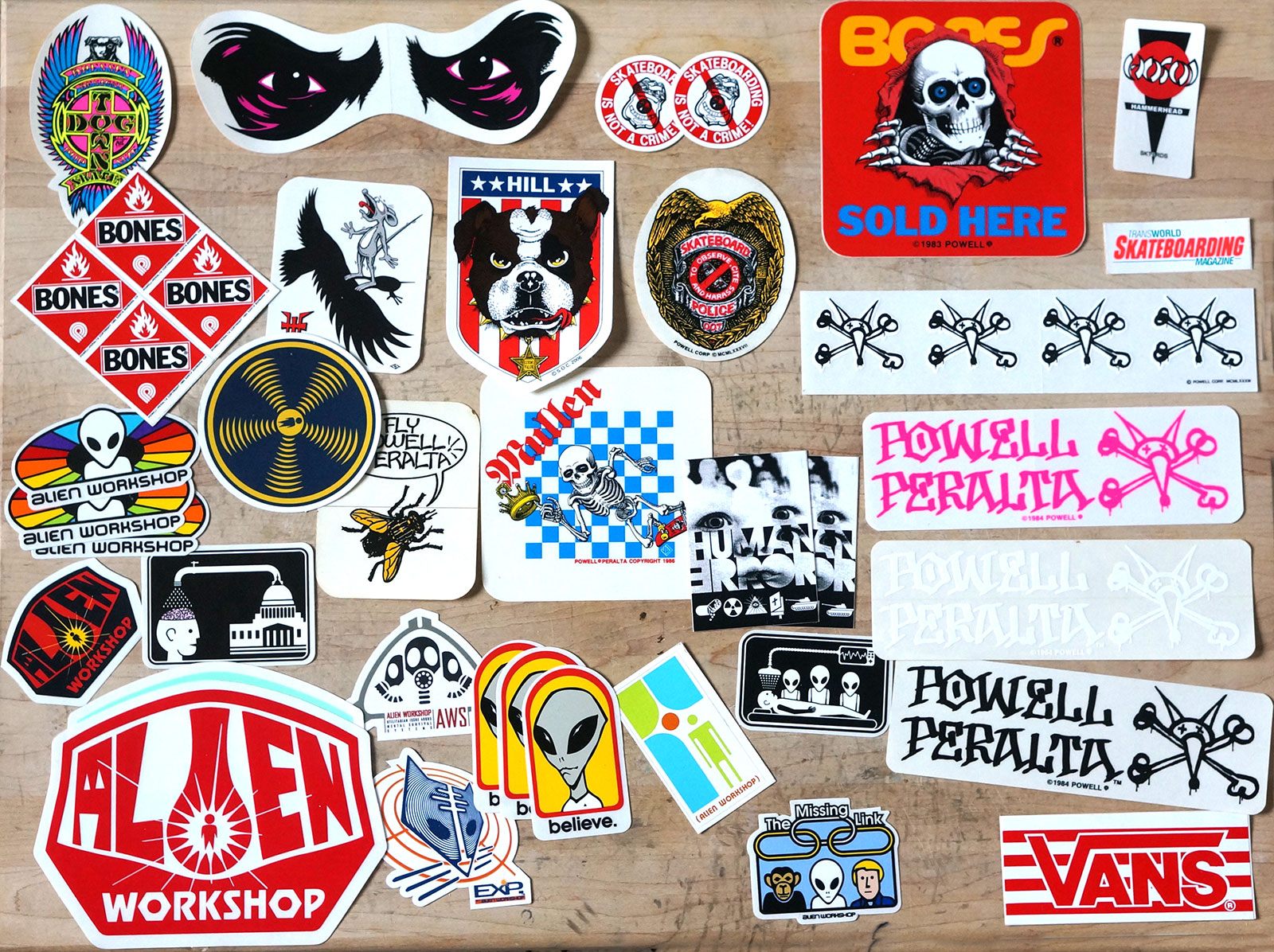 Vintage Skateboard Stickers Set 7