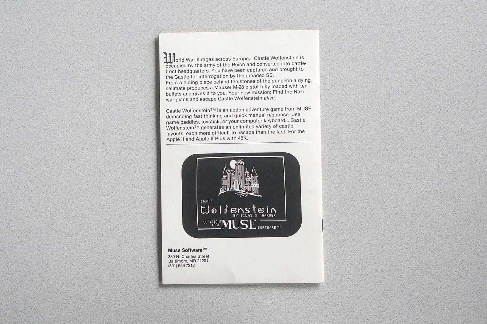 Castle Wolfenstein - Apple II