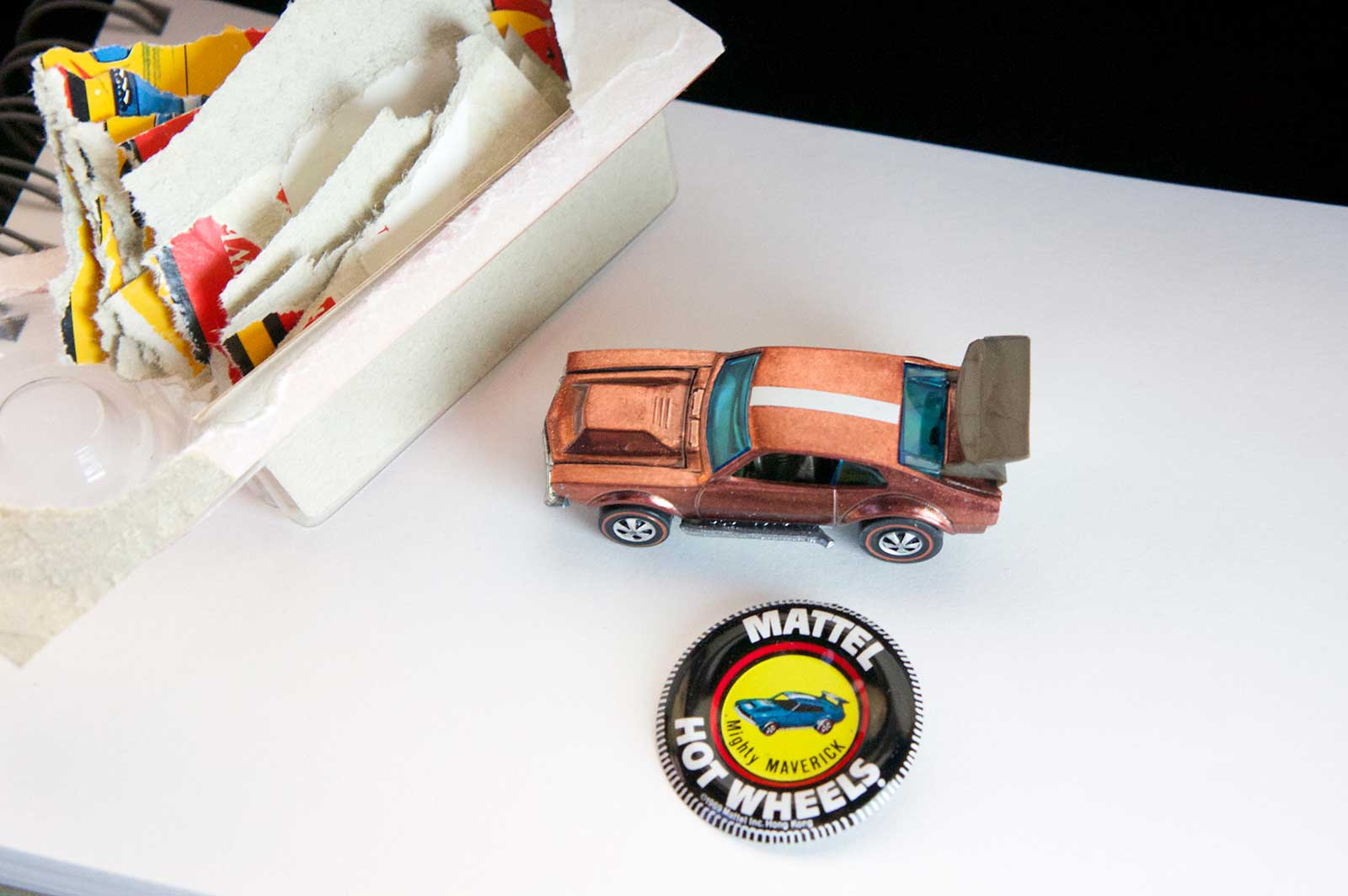 Hot Wheels Redline Copper Mighty Maverick Brown Wing HK