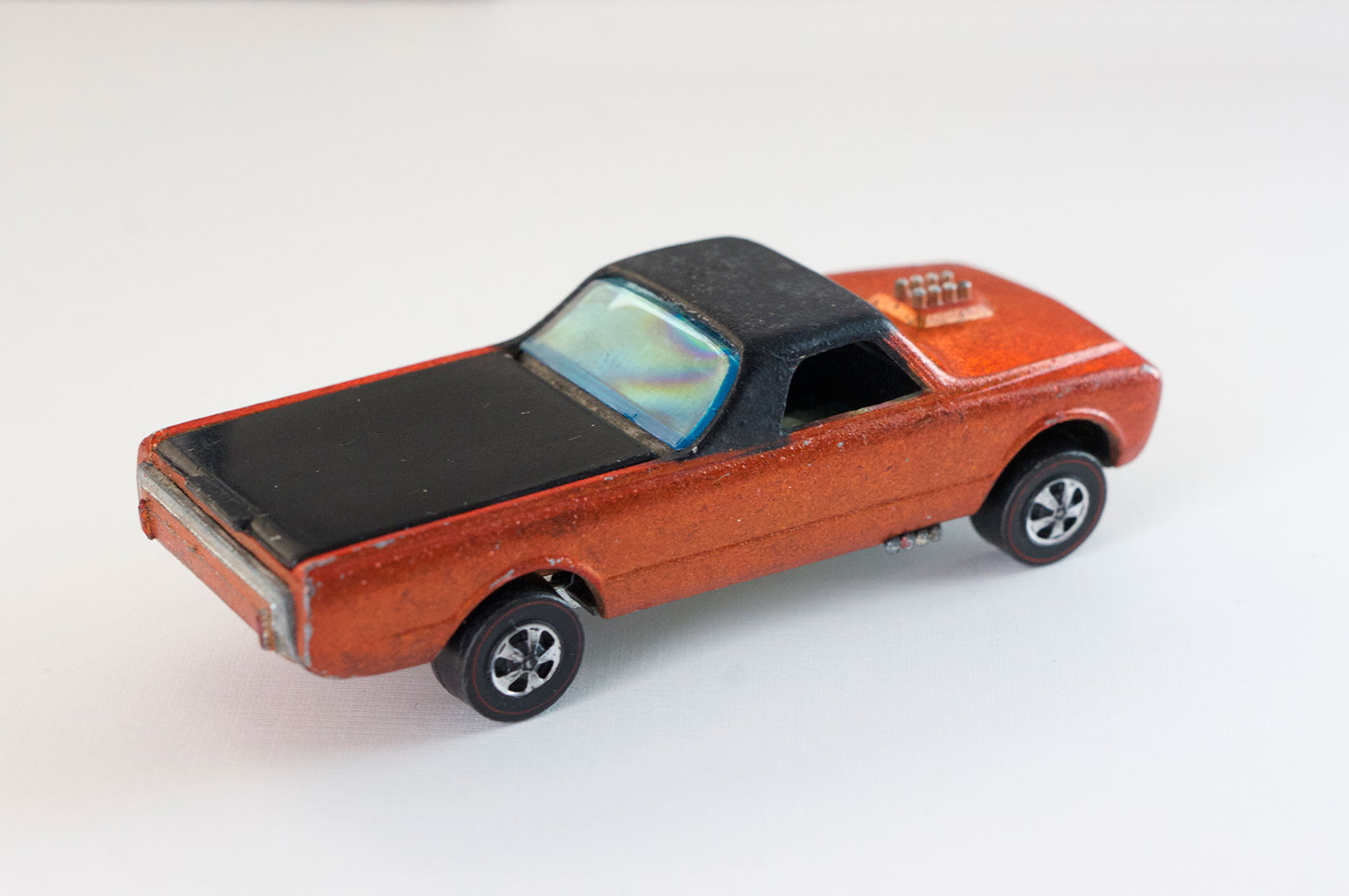Hot Wheels Redline Early Production Orange Custom Fleetside HK Painted Base