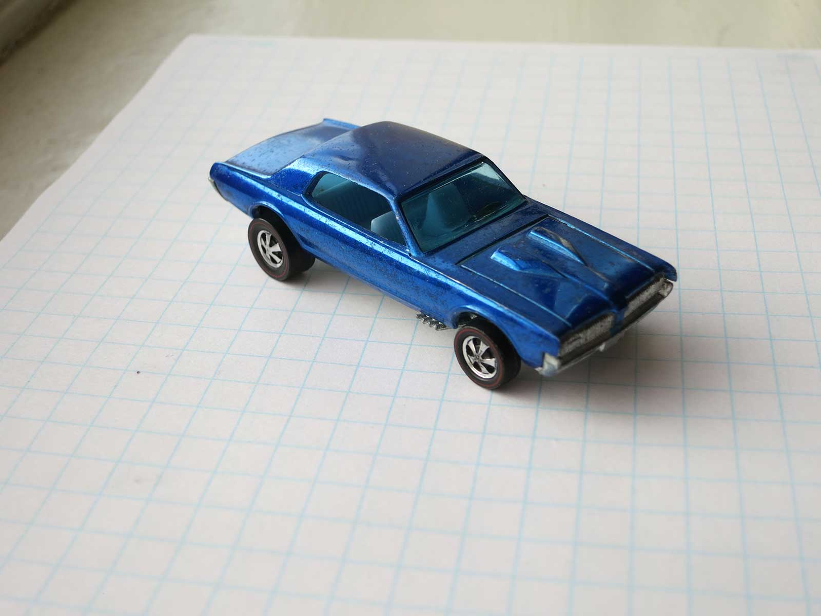 Hot Wheels Redline Blue Custom Cougar with Early Production Identifiers HK