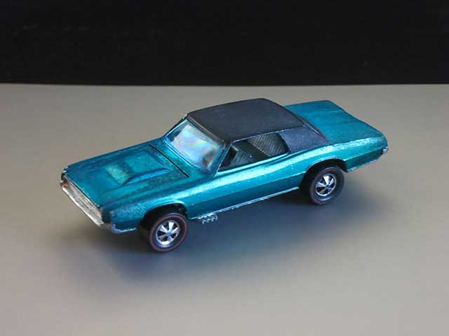 Hot Wheels Redline Aqua Custom T-Bird HK Early Production