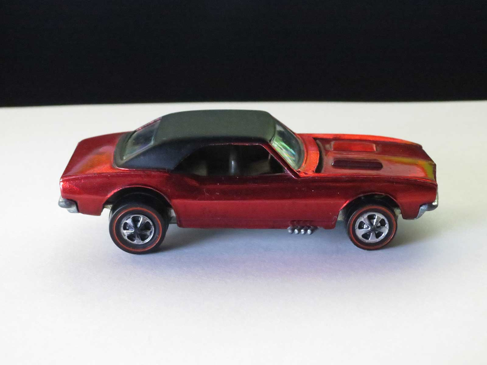 Hot Wheels Redline Early Production Red Custom Camaro US Tabbed Base