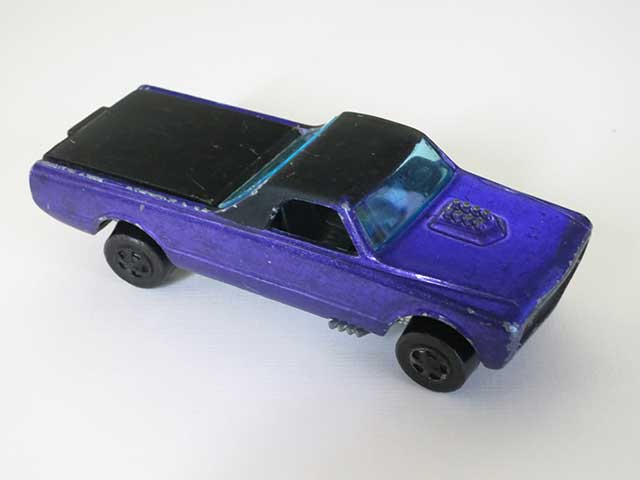 Hot Wheels Redline Early Production Purple Custom Fleetside HK Painted Base